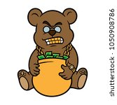 cartoon rapper bear | Shutterstock .eps vector #1050908786