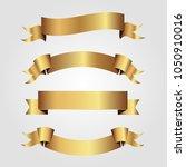 set of golden ribbons vector.   Shutterstock .eps vector #1050910016