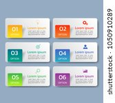 infographics design template 3d ... | Shutterstock .eps vector #1050910289