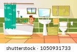 vector cartoon young man having ... | Shutterstock .eps vector #1050931733