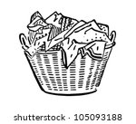 Laundry Basket   Retro Clipart...