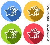Stars Rate Icon. Set Of White...