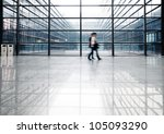 image of people silhouettes at... | Shutterstock . vector #105093290