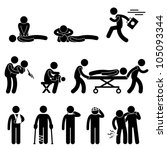 first aid rescue emergency help ... | Shutterstock .eps vector #105093344