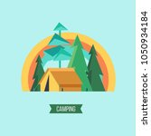 camping. campground in the... | Shutterstock .eps vector #1050934184