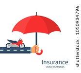 insurance motorcycle. vector... | Shutterstock .eps vector #1050934796