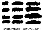 12 brush set for text space.... | Shutterstock .eps vector #1050938534