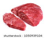 raw beef meat isolated on white ... | Shutterstock . vector #1050939104