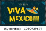 cinco de mayo greeting card... | Shutterstock .eps vector #1050939674