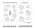 two visual math puzzles and... | Shutterstock . vector #1050940040
