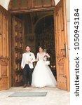 wedding couple bide and groom... | Shutterstock . vector #1050943184