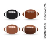 football ball set isolated on a ... | Shutterstock .eps vector #1050960296