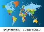 color world map vector | Shutterstock .eps vector #1050960560