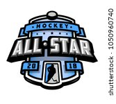 all stars of hockey  logo ... | Shutterstock .eps vector #1050960740