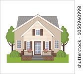 colorful cottage house isolated ... | Shutterstock .eps vector #1050960998