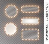 hollywood lights. illuminated... | Shutterstock .eps vector #1050967478