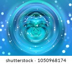 brilliant blue light circle.... | Shutterstock . vector #1050968174