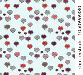 repeating texture. valentine' s ... | Shutterstock .eps vector #1050969380