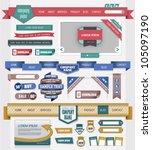 web design elements | Shutterstock .eps vector #105097190