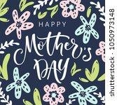 mother's day greeting card with ... | Shutterstock .eps vector #1050973148