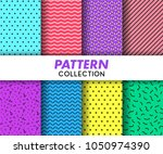 pattern seamless collection | Shutterstock .eps vector #1050974390