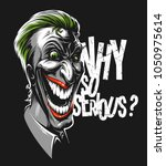 vector laughing joker | Shutterstock .eps vector #1050975614