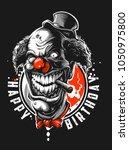 very bad clown | Shutterstock .eps vector #1050975800