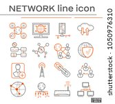 set of network icons. | Shutterstock .eps vector #1050976310