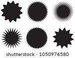 geometric light ray set.... | Shutterstock .eps vector #1050976580