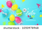 happy easter sale banner... | Shutterstock .eps vector #1050978968
