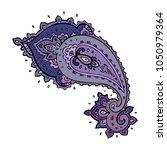 paisley. ethnic ornament.... | Shutterstock .eps vector #1050979364