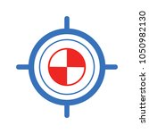 target goal icon  target focus... | Shutterstock .eps vector #1050982130