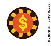 vector casino chips  casino...   Shutterstock .eps vector #1050982238