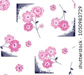 beautiful flowers pattern with... | Shutterstock .eps vector #1050983729