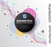 abstract colorful color circle... | Shutterstock .eps vector #1050984956