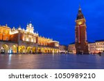 the krakow cloth hall on the... | Shutterstock . vector #1050989210