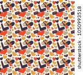 vector seamless valentine... | Shutterstock .eps vector #1050993518