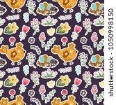 seamless spring vector pattern. | Shutterstock .eps vector #1050998150