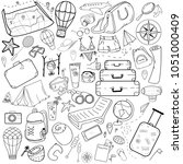 set of doodle on the theme of... | Shutterstock .eps vector #1051000409