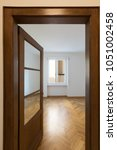 view of empty room from the... | Shutterstock . vector #1051002458