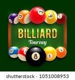 billiards tournament poster...
