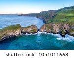 northern ireland  uk. atlantic... | Shutterstock . vector #1051011668