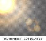 sunshine vector effect isolated ... | Shutterstock .eps vector #1051014518