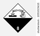 adr 8 corrosive substance sign  ... | Shutterstock .eps vector #1051015610