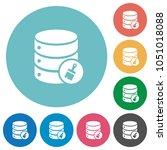 database paste data flat white... | Shutterstock .eps vector #1051018088