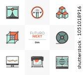 modern flat icons set of 3d... | Shutterstock .eps vector #1051018916