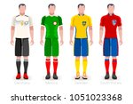 russia soccer world cup 2018.... | Shutterstock .eps vector #1051023368