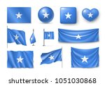 set somali flags  banners ... | Shutterstock . vector #1051030868