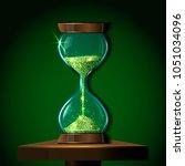 transparent vector sandglass... | Shutterstock .eps vector #1051034096