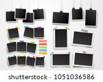 set of blank photo frame... | Shutterstock .eps vector #1051036586